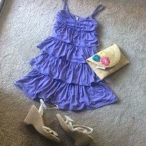 J Crew lavender tires dress size small.